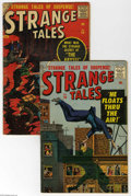 Golden Age (1938-1955):Horror, Strange Tales #58 and 60 Group (Marvel, 1957) Condition: AverageVG. This lot consists of issues #58 and 60. Both have cover... (2Comic Books)