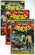 Bronze Age (1970-1979):Horror, Tomb of Dracula Group (Marvel, 1972-77). This group includes #1, 5,7, 16, 17, 18, 19, 20 (two copies), 23, 24 (two copies),... (22Comic Books)
