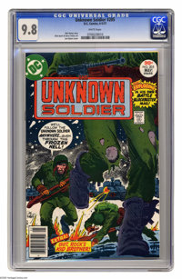 Unknown Soldier #205 (DC, 1977) CGC NM/MT 9.8 White pages. Title changes from Star-Spangled War Stories with this issue...