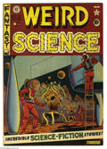 Golden Age (1938-1955):Science Fiction, Weird Science #8 (EC, 1951) Condition: FN+. Al Feldstein cover.Feldstein, Wally Wood, Jack Kamen, and George Roussos art. O...