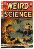 Golden Age (1938-1955):Science Fiction, Weird Science #21 (EC, 1953) Condition: FN+. William Gaines and AlFeldstein appear in story. Wally Wood cover. Wood, Frank ...