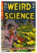 "Golden Age (1938-1955):Horror, Weird Science #22 (EC, 1953) Condition: FN+. Wally Wood cover. ""MyWorld"" story with Wood art, narrated by the artist. Also ..."