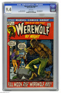 Bronze Age (1970-1979):Horror, Werewolf by Night #1 (Marvel, 1972) CGC NM 9.4 White pages. GerryConway story. Mike Ploog cover and art. Story continued fr...
