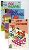 Bronze Age (1970-1979):Cartoon Character, Woody Woodpecker Group (Gold Key, 1974-78) Condition: Average VF+.Short box lot includes #135 (18 copies), 136 (five copies...