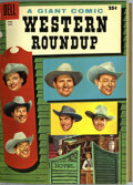 Golden Age (1938-1955):Miscellaneous, Dell Giant Comics - Western Roundup #13-16 Bound Volume (Dell, 1953-56). These are Western Publishing file copies which have...