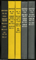 Golden Age (1938-1955):Miscellaneous, Dell Adventure Quarterlies Bound Volumes (Dell, 1954-56). These are Western Publishing file copies that have been trimmed an... (5 )