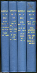 Silver Age (1956-1969):Miscellaneous, Dell Miscellaneous Bound Volumes (Dell, 1958). These are WesternPublishing file copies that have been trimmed and bound int... (4 )