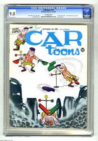 """CARtoons #13 (Petersen Publishing Co., 1963) CGC VF/NM 9.0 Off-white pages. Features a """"National Dragster"""" cen..."""