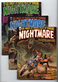 Bronze Age (1970-1979):Horror, Nightmare Group (Skywald, 1971-74). Nineteen-issue lot includes #1(FN), 3 (VF+), 4 (VF/NM), 6 (VF/NM), 7 (VF), 8 (VF/NM), 9... (19Comic Books)