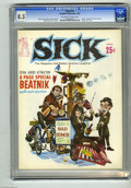 "Magazines:Humor, Sick #12 (Headline Publications, 1962) CGC VF+ 8.5 Off-white towhite pages. Features an eight page ""Beatnik"" pull-out secti..."