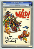 """Magazines:Humor, Wild (Dell) #1 (Dell, 1968) CGC VF/NM 9.0 Off-white to white pages.Features """"Hogans Heroes"""", """"The Rat Patrol"""", and """"Mission..."""