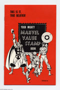 Memorabilia:Comic-Related, Marvel Value Stamp Book (Marvel) Condition: NM. Series B; includes stamps #59 (Fantastic Four), 26 (Silver Surfer), and 96 (...