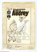 Original Comic Art:Covers, Warren Kremer - Playful Little Audrey #96 Cover Original Art(Harvey, circa 1971). A girl's reach should extend her grasp, o...(1 Original Art)