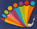 Animation Art:Color Model, The Wonderful World of Color Show-Off Peacock Color Model Cel (Walt Disney, 1961)....