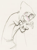 Animation Art:Production Drawing, Robin Hood Robin in Disguise Animation Drawing (Walt Disney,1973)....