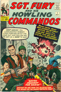 Silver Age (1956-1969):War, Sgt. Fury and His Howling Commandos # 1 (Marvel, 1963) État : Bien....