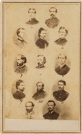 Photography:CDVs, George Armstrong Custer, Libbie, and His Officers: A Most Unusual Carte de Visite from His Time in Texas after the War. ...