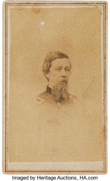 Military PatrioticIndian Wars Alfred Sully An Autographed Carte De Visite Image