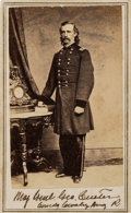 Photography:CDVs, George Armstrong Custer: Carte de Visite Portrait by Anthony/Brady. ...