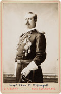 Military & Patriotic:Indian Wars, Thomas McDougall: A Cabinet Photo by D. F. Barry....