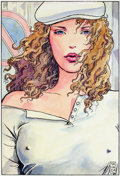 Original Comic Art:Illustrations, Milo Manara Dame aux yeux bleus Illustration (1995)....