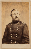 Military & Patriotic:Indian Wars, General George Crook: A Scarce Autographed Carte de Visite Photo....