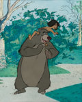 Animation Art:Production Cel, The Jungle Book Mowgli and Baloo Production Cel (WaltDisney, 1967)....