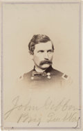 Military & Patriotic:Indian Wars, General John Gibbon: A Scarce Carte de Visite of the Leader of Oneof the Columns Intended to Rendezvous with Custer....