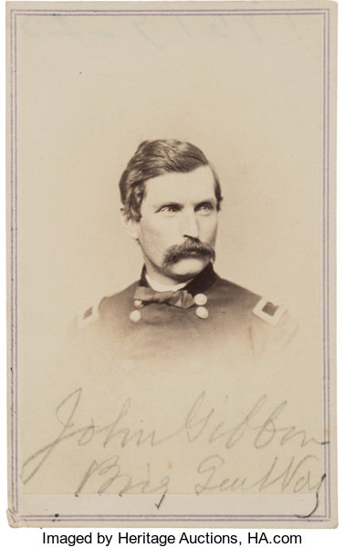 Military PatrioticIndian Wars General John Gibbon A Scarce Carte De Visite