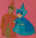 Animation Art:Color Model, Sleeping Beauty Flora and Merryweather Production/ColorModel Cel Setup (Walt Disney, 1959)....