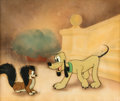 Animation Art:Production Cel, Society Dog Show Pluto and Fifi Production Cel CourvoisierSetup (Walt Disney, 1939)....
