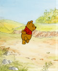 Animation Art:Production Cel, Winnie the Pooh and the Blustery Day Winnie the PoohProduction Cel and Painted Background (Walt Disney, 1968)....