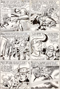Original Comic Art:Panel Pages, Jack Kirby et Chic Stone Journey Into Mystery #113 Planche10 (Marvel, 1965)....
