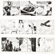Alex Raymond Rip Kirby Lot de 3 Strips Qoutidiens (King Features Syndicate, 1950-51).... (Total: 3 Original Art)