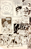 Original Comic Art:Panel Pages, David Mazzucchelli et Danny Bulanadi Daredevil #211 Planche22 (Marvel, 1984)....