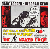 "The Naked Edge (United Artists, 1961). Folded, Very Fine+. Six Sheet (80"" X 79""). Thriller"