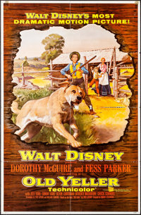 """Old Yeller & Others Lot (Buena Vista, 1957). One Sheets (2) (27"""" X 41""""), Three Sheet (41"""" X 79"""")..."""