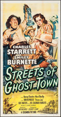 """Movie Posters:Western, Streets of Ghost Town (Columbia, 1950). Three Sheet (41"""" X 79""""). Western.. ..."""