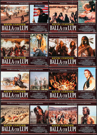 "Dances with Wolves (TIG Productions, 1990). Italian Photobusta Set of 8 (18.25"" x 26.25""). Western. ... (Total..."