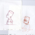 "Original Comic Art:Miscellaneous, The Simpsons - ""Angry Bart"" Preliminary Animation Original Art,Group of 2 (undated). Two key frame drawings of Bart reactin... (2Original Art)"