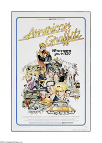 "American Graffiti (Universal, 1973). One Sheet (27"" X 41""). Offered here is a vintage, theater-used poster for..."