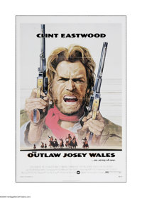 """The Outlaw Josey Wales (Warner Brothers, 1976). One Sheet (27"""" X 41""""). Offered here is a vintage, theater-used..."""
