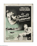 """Movie Posters:Drama, The Passionate Friends (Gaumont, 1949). French Petite (23"""" X 31"""").Offered here is a vintage, theater-used poster for this d..."""