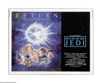 "Return of the Jedi (20th Century Fox, R-1985). Half Sheet (22"" X 28""). This is a vintage, theater used poster..."
