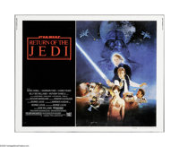 "Return of the Jedi (20th Century Fox, 1983). Half Sheet (22"" X 28""). This is a vintage, theater used poster fo..."
