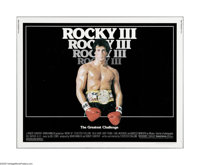 """Rocky III (United Artists, 1982). Half Sheet (22"""" X 28""""). This is a vintage, theater used poster for this boxi..."""