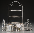 Silver Holloware, British:Holloware, A Six-Piece Group of James Dixon & Sons Silver-Plated Table Items, Sheffield, 20th century. Marks: (various). 18-1/4 inches ... (Total: 9 Items)