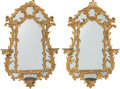 Furniture , A Pair of Chinese Chippendale-Style Carved Giltwood Mirrors, 19th century. 41-3/4 h x 28 w x 5 d inches (106.0 x 71.1 x 12.7... (Total: 2 Items)