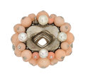 Estate Jewelry:Rings, Diamond, Coral, Cultured Pearl, Gold Ring Mounting. ...
