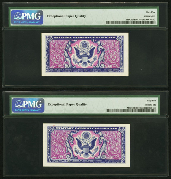 Series 481 50 First Printing Two Consecutive Examples Pmg Lot